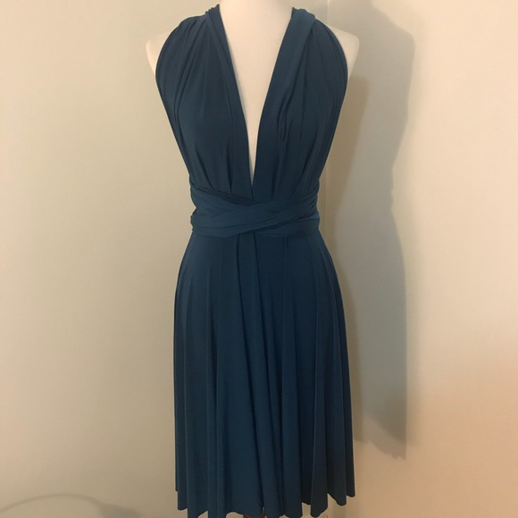 Von Vonni Dresses Teal Multiway Dress 1 Size Perfect For Weddings